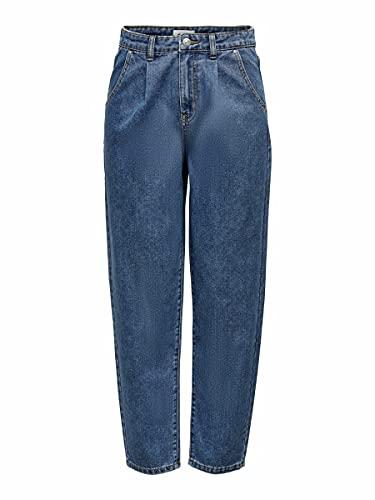 Only Onlliva Slouchy HW Jeans Dnm Mae, Medio De Mezclilla Azul, M para Mujer