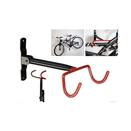 Estante con ganchos de pared para colgar y almacenar bicicletas, con tornillos