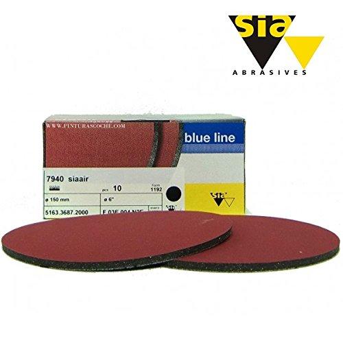 SIA AIR Velvet Schleifscheiben Klettscheiben Schleifpad 150mm K1500 / 5 Stück