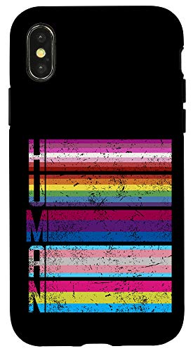 iPhone X/XS Human Gay Lesbian Bisexual Transgender Pansexual LGBT Flag Case