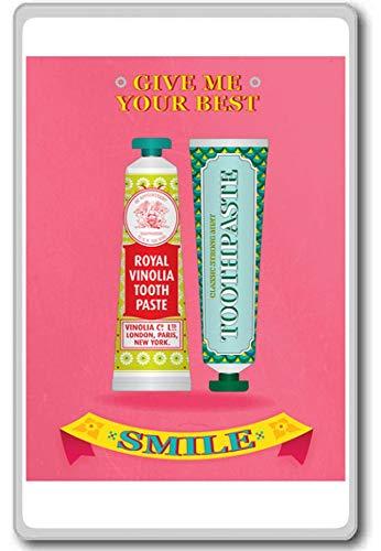Geef Uw Beste Smile Tandpasta Pink motievendiecitaat koelkastmagneet