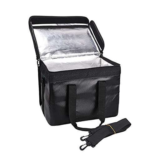 Bolsa segura para batería de Lipo, resistente al fuego, a prueba de explosiones, resistente al agua, contenedor de almacenamiento seguro para batería de Lipo de gran espacio, con correa de hombro desm