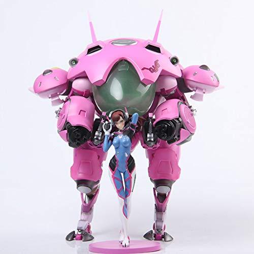 PLL Decoraciones Overwatch D.Va Figura de acción de la máquina Armor.Ver Modelo Popular de Dibujos Animados de Juguete de Regalo de OW Ordenadores muñeca Adornos