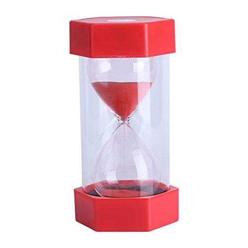 Bunte Sand Timer Glas Sanduhr 3/10/20/30/60 Minuten Timer Uhr Home Office Decor Geschenk(30 Mins Red)
