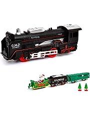 HSP Himoto Juego de iniciación de tren eléctrico, tren o locomotora de Navidad Santa Claus Design Soundsimulation, modelo de locomotora