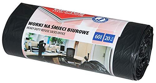 Office Products 22021229-05 - Sacchetti per la spazzatura, 60 l, 20 pezzi, resistenti e antistrappo,...