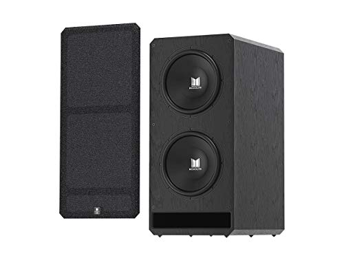 Monolith M-215 THX Ultra Certified Powered Subwoofer - Dual 15in, 2000-Watt Amplifier, Massive Output, Low Distortion, for Home Theater Systems, Black (138543)