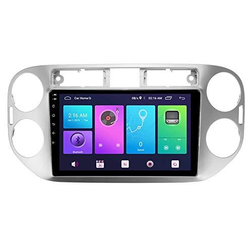 XXRUG Android Car Stereo Sat Nav para Volkswagen TIGUAN 2010-2016 Unidad Principal Sistema de navegación GPS SWC 4G WiFi BT USB Mirror Link Carplay Integrado