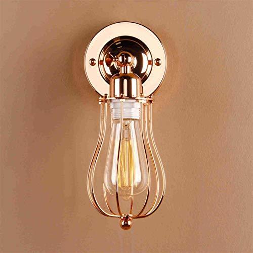 Lámparas de pared industriales Modern Wall Sconence Luz Retro Vintage Luminaria Rústico Año Nuevo Decoración de Navidad Loft Balcony Lights (Lampshade Color : Copper)