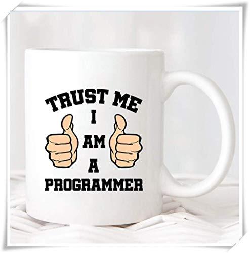 Trust Me I Am A Programmer Tasse Geburtstagsgeschenk Weihnachtsgeschenk Kaffeetasse Programmierer Geschenke