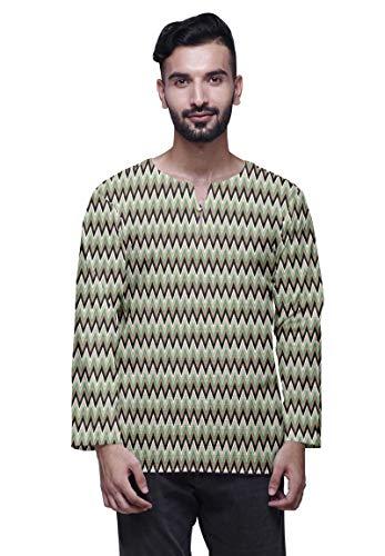 Atasi Traditionelle Kurta Für Männer Keyhole Ansatz Beiläufige Baumwolle Hemd