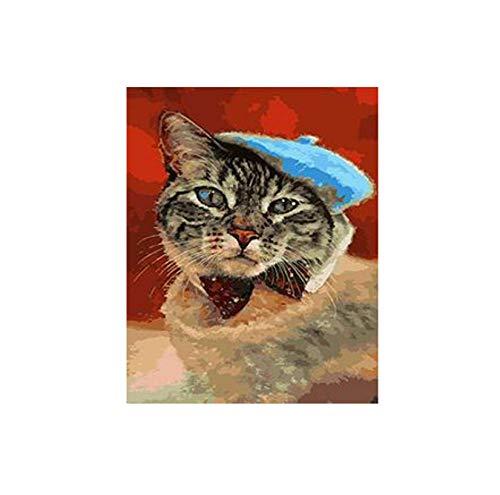 ERTQA Gato Boina Imagen Colorear números Pinturas