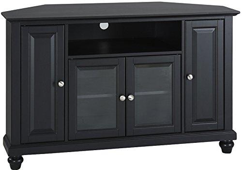 Crosley Furniture Cambridge 48-inch Corner TV Stand - Black