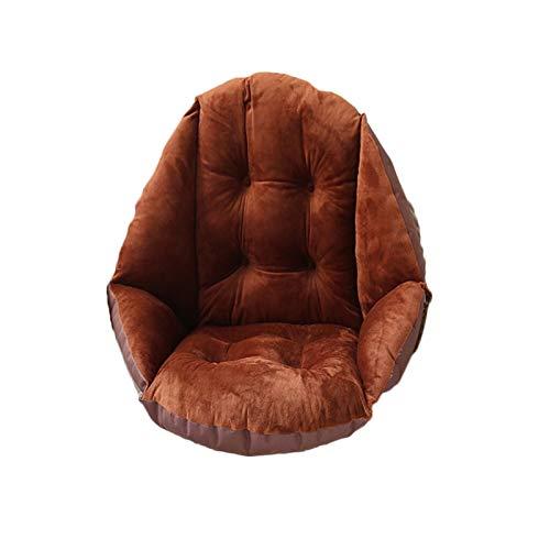 Sitzauflage Halbeinschluss einsitz Kissenstuhl Kissen Schreibtischsitz Kissen Warmer Komfort Sitz Kissen Pad Bürostuhl Sitzkissen # R25 Für Bürostuhl Lendenwirbelstütze Back Pillow (Color : Coffee)