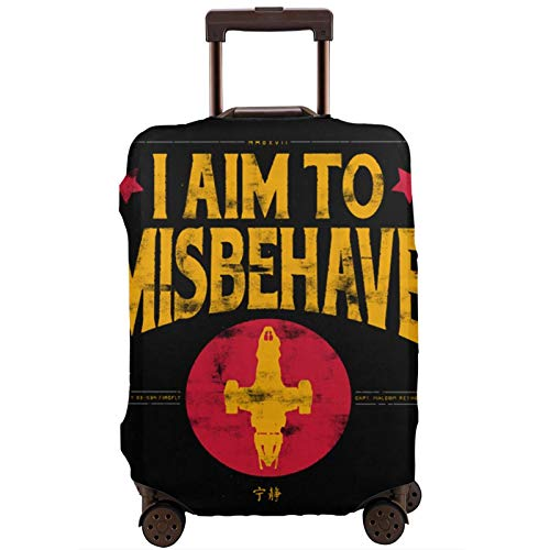 Funda de equipaje con cremallera para maletas Misbe-Ha-Ve Firefly, funda de viaje, lavable, impresión a la moda, funda de equipaje, con cremallera, protector de maleta de viaje
