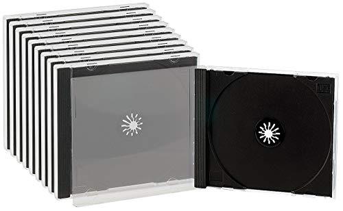 Pearl Leere CD Hüllen: Doppel-CD-Jewel-Boxen im 10er-Set, schwarzes Tray (CD Leerhülle)