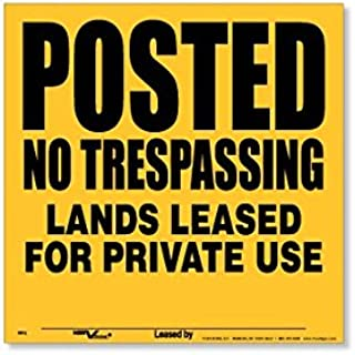 Voss SignsYellow Polyethylene Posted Lands Leased Signs (25 pack)