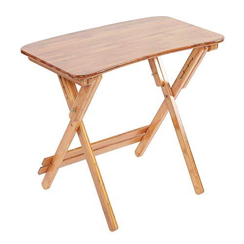 Escritorio plegable, mesa plegable, mesa de bambú de altura ajustable, escritorio de estudio plegable, borde curvo, escritorio para computadora, dormitorio en casa