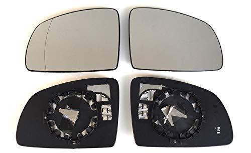 Spiegel Spiegelglas links + rechts 2er Set beheizt Ersatzglas für Aussenspiegel