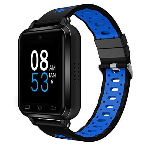 ELYSYSRL Smartwatch waterdichte Fitness activiteit tracker Pedometers Hartslagmeter WiF video-oproep GPS navigatie outdoor Sport horloge (blauw)
