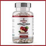 Tabletas de vinagre de sidra de manzana de alta resistencia - 100% natural 120 pastillas veganas para 60 días - Soporta pérdida de peso, keto dieta y desintoxicación natural – apple cider vinegar
