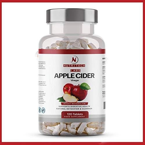 Tabletas de vinagre de sidra de manzana de alta resistencia - 100% natural 120 pastillas...