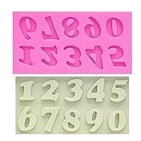 ベーキングモールドレター/ナンバーシリコーンモールドフォンダンモールドケーキ装飾ツールチョコレートモールドキッチンベーキングモールド (色 : 1 PCS)