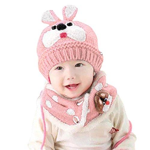 Babybekleidung Hüte & Mützen Longra Baby Schal Jungen Mädchen Kleinkinder Hasen Zähne Schal Kind Schal Hüte Mützen (Pink)