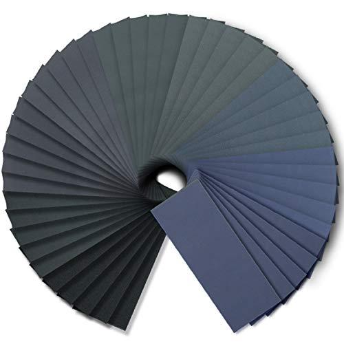 FRIMOONY Schleifpapier, Körnung 240-3000, für Holz- und Kunststoffschleifen, 90 Stück