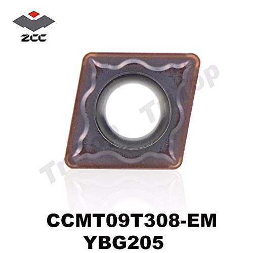 FINCOS CCMT09T308-EM YBG205 ZCC TOOL CCMT 09T308 EM (10pcs/lot) ZCC CT tungsten Carbide Cutting tools turning insert CCMT09T308