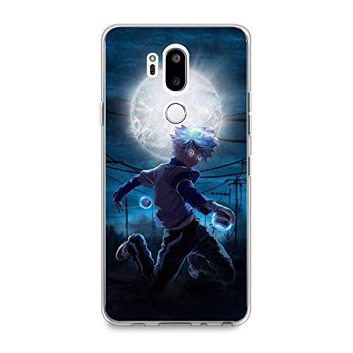 GHRDTHGFGER Compact Shell Clear Coque Soft Transparent Thin TPU Crystal Liquid Printing Case Cover For LG G7 ThinQ-Hunter-HXH Anime 5