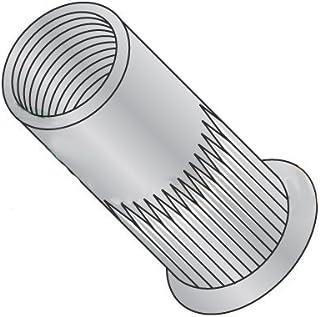 Carton: 1,000 pcs Max Grip .080 Large Flange Ribbed Blind Threaded Inserts//Aluminum Alloy 5056 8-32