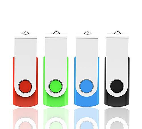 USB Stick 32GB USB 2.0 Flash Laufwerk 4 Stück,USB Speicherstick Flash Drive Memory Stick Thumb Drive Pen Drive für Laptop Computer PC Windows