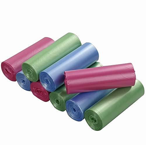 Ordate - Bolsas de basura, color azul, verde y rosa, 25 L, 180/9 volúmenes