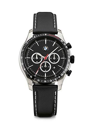 BMW Original Herren Armbanduhr Chrono mit Lederarmband - Kollektion 2020/22