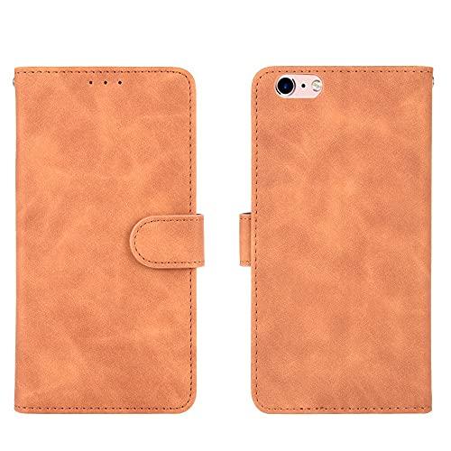 Teléfono Flip Funda Shell Funda de billetera para iPhone 6 Plus / 6S Plus, cartera de cuero PU con titular de la tarjeta de crédito cubierta protectora a prueba de golpes para iPhone 6 Plus / 6s Plus