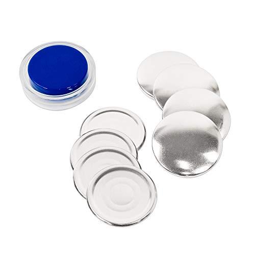 くるみボタンキット 包み つつみ パーツ (打ち具付) 48mm 4組入 (足なしタイプ) 2パッケージセット
