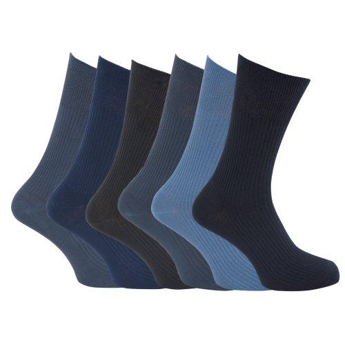 Universaltextilien Herren Socken, gerippt, 6er Pack (45-49 EU) (Design 1)