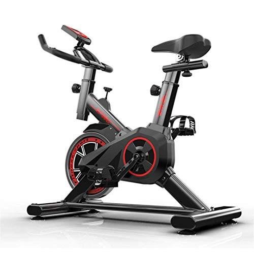 Bicicleta estática Bicicleta de ciclismo para interiores estacionaria, Bicicleta de ejercicios para trabajo pesado, Bicicleta de ejercicios cardio para interiores ajustable para gimnasio en casa, Tra
