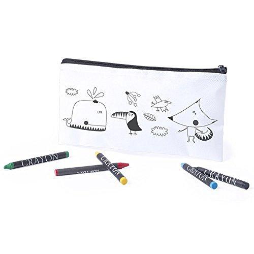 Lote de 20 Estuches Para Colorear Con 5 Pinturas De Cera Incluidas Cada Uno. Ideal Para Regalos De Cumpleaños, Fiestas De Colegios, Comuniones