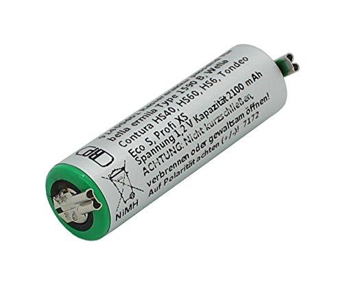 Vervangende accu voor tondeuse Wella Contura HS40 HS41 Bella Ermila GP180AAH 1590B Tondeo Eco S Tondeo Profi XS Accu batterij Bateria