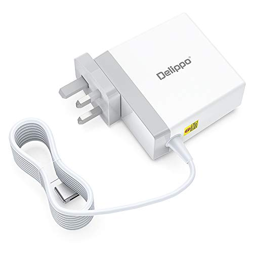 Delippo for Mac Pro Charger, 85W 20V-4.25A T-Tip Power Adapter for MacBook Pro Charger 13 15 17 inch A1502 A1465 A1425 A1435 A1466 A1398 A1424 After Mid 2012