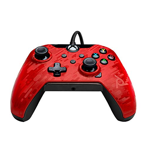 PDP Gaming Wired Controller: Phantasm Red - Xbox, 048-082-NA-CM04 -...