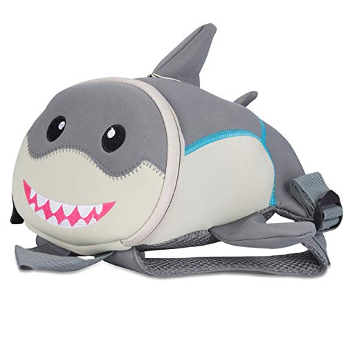 Kinderrucksack für Kleinkinder Kindergarten Rucksack für Kinder Backpack Schultasche Tier-Rucksäcke 2-6 Jahre Wasserfest, Leichtgewichtig, ergonomische Träger und extrem Robust (Hai)