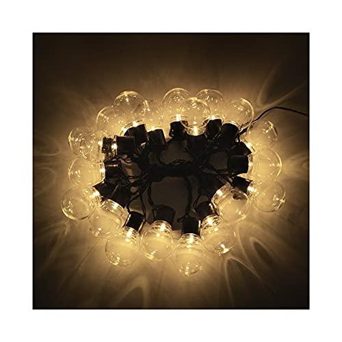 Luces de cadena Lámpara solar Potencia LED Luces de hadas de cadena de 2,5 m 5m 10/20 LEDs Globo Bolbilla Bolbilla Solar Guirnaldas Jardín Decoración de Navidad para al aire libre Iluminación del fest