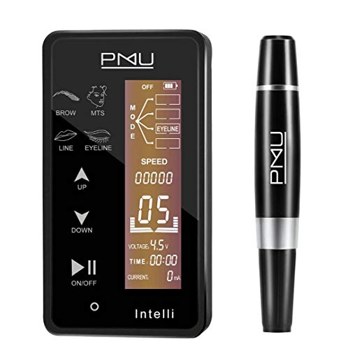 INTELLI Digital PMU Machine Touch Screen Panel Multi Function Eyeliner, MTS, Lips, By Mellie Microblading, Nano Strokes High Performance Smooth & Quiet Professionals Only Permanent Make Up Supplies