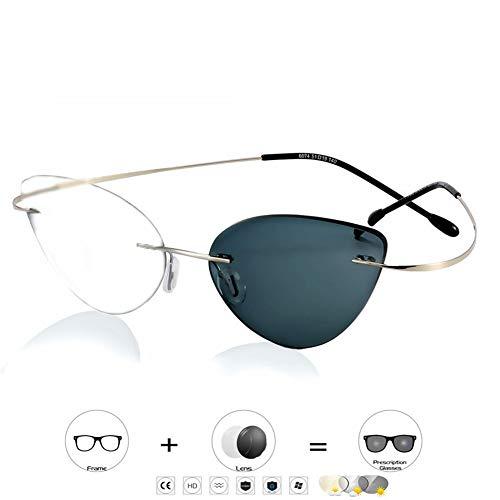 Transition Lens Photochromic Leesbril voor mannen en vrouwen, 100% UV-bescherming Verminder vermoeidheid tijdens het hardlopen, Zonnebrillen