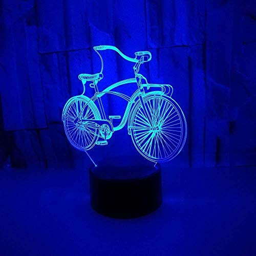 3D illusion Night Light Bluetooth Smart Control 7 & 16 M App kleuren LED Vision fiets knipperschakelaar USB stroomvoorziening bureau kinderkamer home actie kleurrijk geschenk