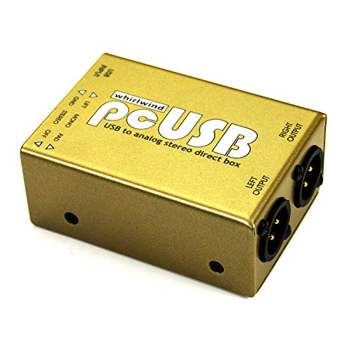 Whirlwind PcUSB 2-Channel Active USB Pieces Direct Box