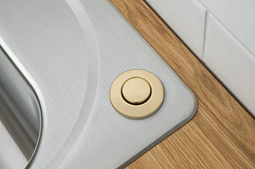 Moen AS-4201-BG Garbage Disposal Air Switch Coordinating Decorative Button, Brushed Gold